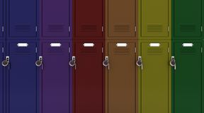School gym locker Stock Photos