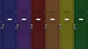School gym locker Stock Photos