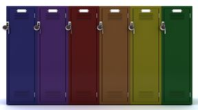 School gym locker Royalty Free Stock Image