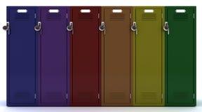 School gym locker Royalty Free Stock Image