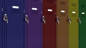 School gym locker Stock Image