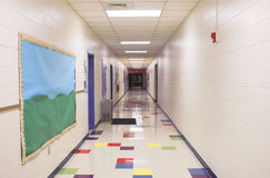 School Hallway. A hallway in an elementary school Royalty Free Stock Photos