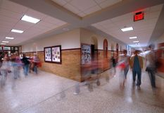 School Hallway 5 royalty free stock photos