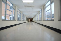School Hallway Stock Image