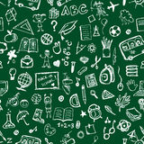 School hand drawn pattern. For your design stock illustration