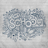School hand lettering and doodles elements Royalty Free Stock Images