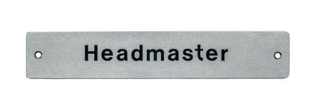 School Headmaster Sign Stock Photography