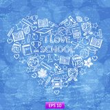 School heart Royalty Free Stock Image