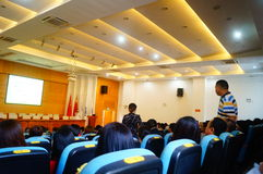 The school held a lecture on psychological health education for parents of students. Sunday, the school held a psychological health education lecture. In stock images
