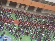 School het Verzamelen zich Stock Fotografie