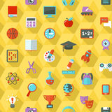 School Hexagon Pattern Stock Photo