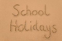 School holidays in sand Royalty Free Stock Photo
