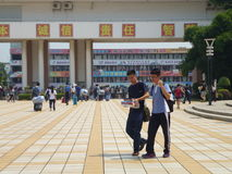 School holidays. Shajing middle school in Baoan, Shenzhen, china royalty free stock photos
