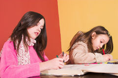 School homework Stock Photography
