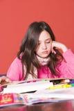 School homework Stock Photo