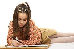 School homework Royalty Free Stock Photos