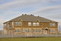School house. Small school house with view of yard Royalty Free Stock Image