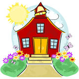 School House stock illustration