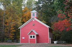 School house in Fall Stock Image