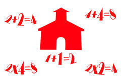 School House With Math Stock Image