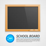 School houten raad Stock Foto's