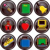 School Icon Buttons Stock Photos