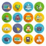 School Icon Flat Royalty Free Stock Image
