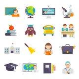 School Icon Flat Stock Photography
