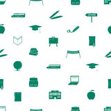 School icon pattern eps10 Royalty Free Stock Photo