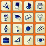 School icon s set stock illustration