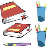School icon set. Vector collection of school objects Stock Photo