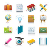 School icon set Royalty Free Stock Images