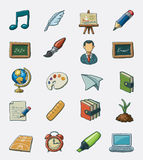 School icon set. Hand drawn  icon set Royalty Free Stock Photography
