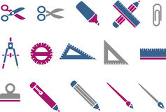 School icon set Royalty Free Stock Photos
