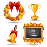 School icon set. Autumn set. Stock Photo