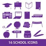 School icon set eps10. School icon symbols set eps10 stock illustration
