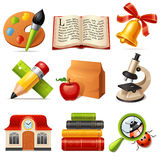 School icon set Stock Image