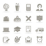 School an icon3 Royalty Free Stock Photography