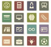 School icon set. School  icons for user interface design Stock Photography