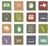 School icon set. School  icons for user interface design Royalty Free Stock Images