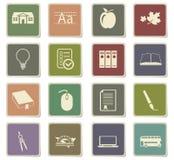 School icon set. School icons for user interface design stock illustration