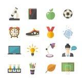 School icon set Stock Photos