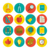 School icon set Royalty Free Stock Image