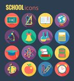 School icon set. Vector Illustration, eps10, Royalty Free Stock Images