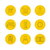 School icon set. Vector Illustration icons Stock Photo