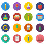 School icon set. Vector Illustration icons Stock Photos