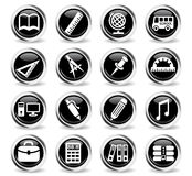 School icon set. School web icons for user interface design Vector Illustration