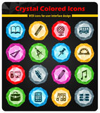 School icon set. School web icons for user interface design Stock Illustration