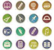 School icon set. School web icons for user interface design Royalty Free Illustration