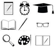 School icon set Stock Image